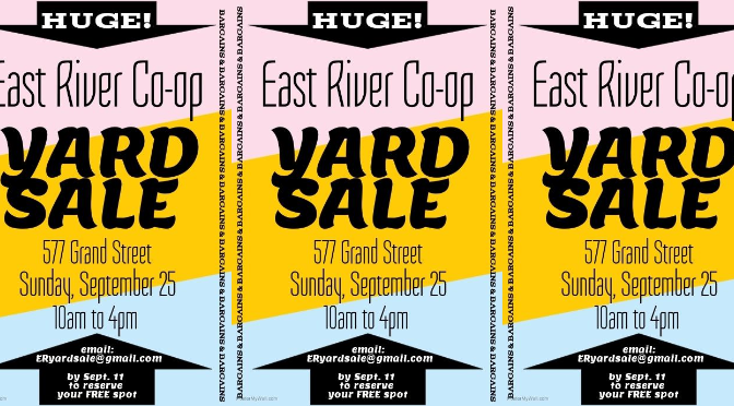 East River Yard Sale this Sunday