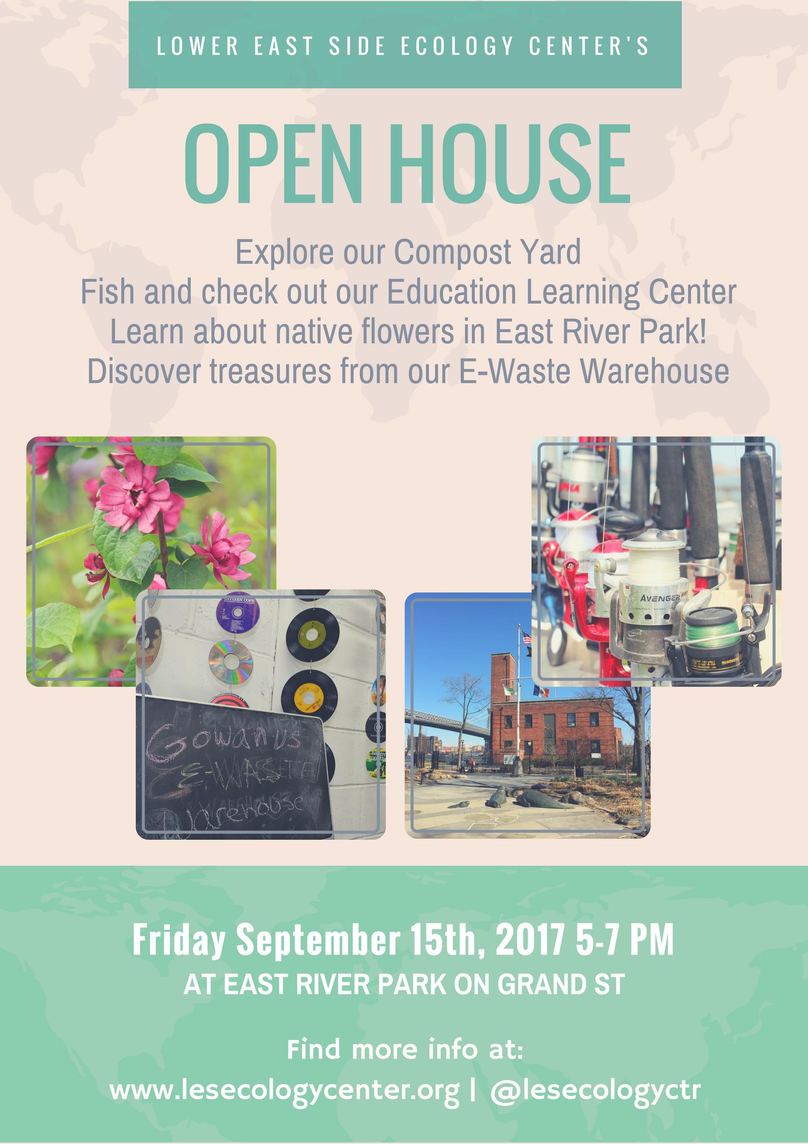 Lower East Side Ecology Center Open House September 15