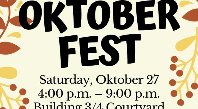 Co-Oktoberfest 2018: October 27